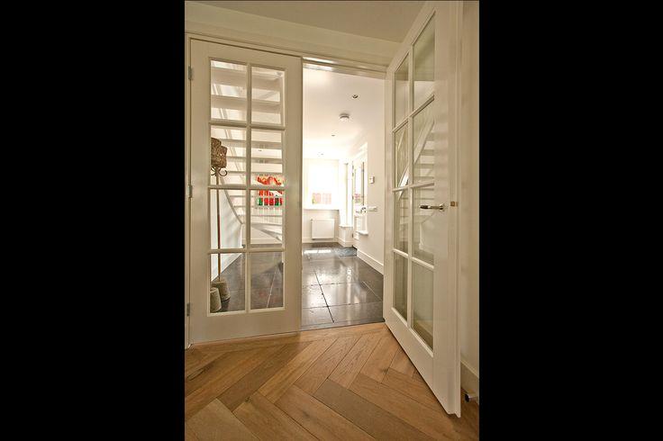 18. Dubbele houten binnendeuren