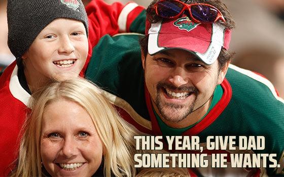 Minnesota Wild   Father's Day 10-Game Ticket Plan - Minnesota Wild - Tickets