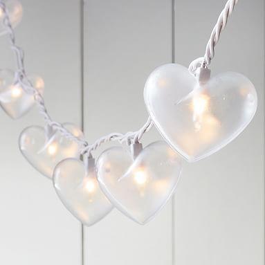 Emily & Meritt Heart Shaped String Lights #pbteen