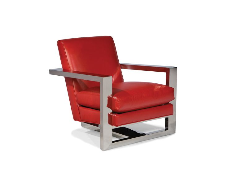Shop For Thayer Coggin Cool Roger Chair, And Other Living Room Chairs At  McElherans Fine Furniture In Edmonton, AB. Polished Stainless Steel Frame  With Your ...