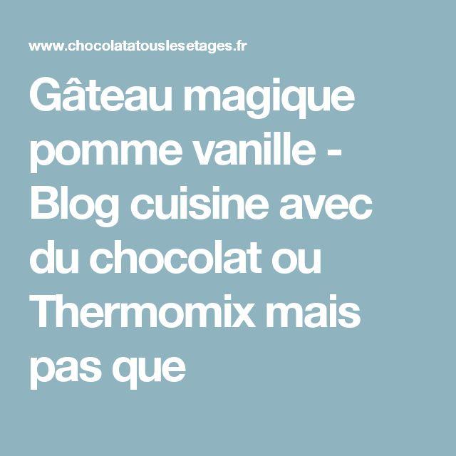 Gateau magique noisette thermomix