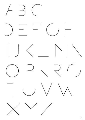 Minimalistic Type - This is another form of minimalism, only instead of artist medias it's an example of minimal type. This font plays on the very common knowledge we have of the form and structure of letters, meaning pieces can be left out and we'll still be able to decipher the message intended without too much bother. However, if overly used it may distract readers and audiences from being interested in reading the ad at all.