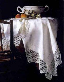 Кружевная отделка для скатерти, фото
