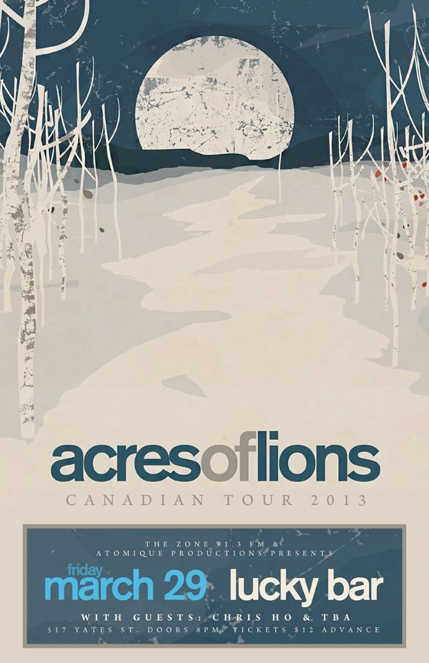 ACRES OF LIONS - March 29th at Lucky Bar, Victoria