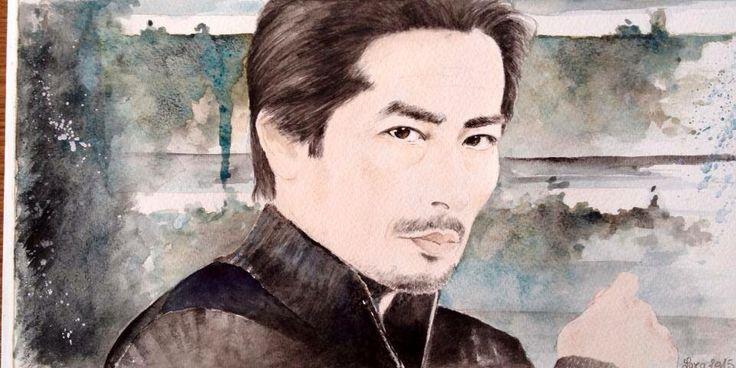 """Play God ,pay the Price "" dr Hiroshi Hatake  Helix series ...watercolor ..Hiroyuki Sanada #watercolor #HiroyukiSanada #真田広之 #Helix"