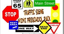 This Traffic Signs Preschool Pack was meant to go along with a Curious George episode - Signs Up and further reinforce what traffic signs mean in the community. These will be hugely educational and beneficial to toddler, preschool, and kindergarten kids.