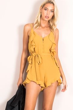 ALREADY GONE FRILL PLAYSUIT