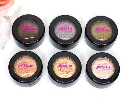 Australis Metallix Eyeshadow Swatches