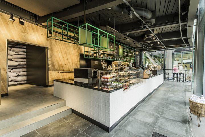 Starbucks store at Sony Center Potsdammer Platz Berlin 02