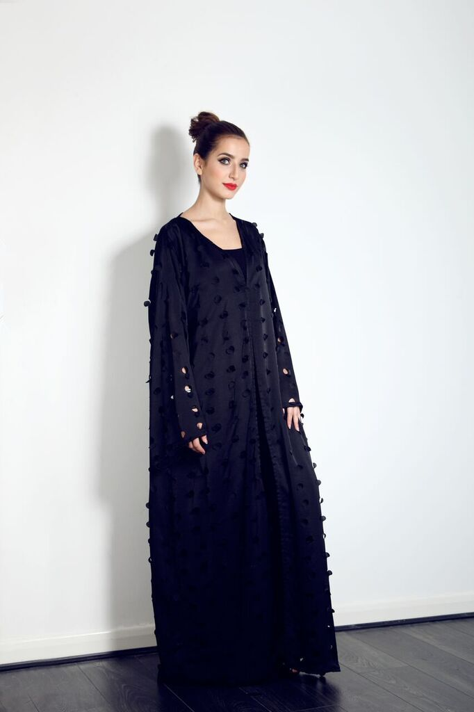 This beautiful black cut out Abaya is on our website now, for just £79.99