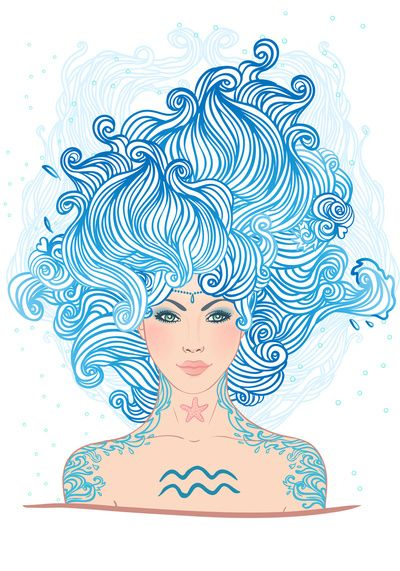 Aquarius Art Print by Varvara Gorbash