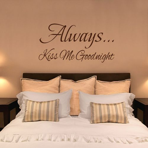I have always wanted this saying on the wall. Maybe I'll paint it like this once we buy a house.