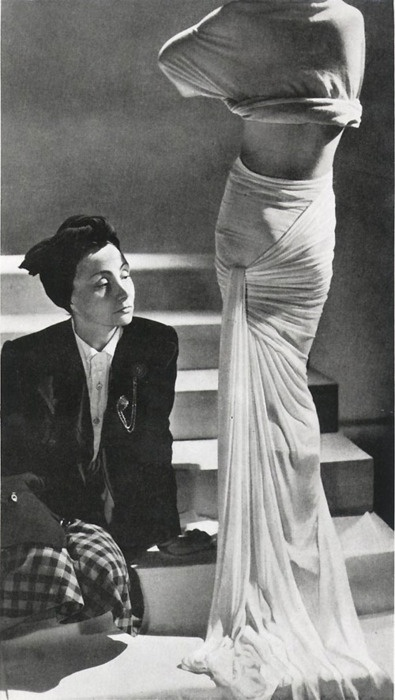 """Madame Gres  Couturier Christian Dior once said, """"Each dress she makes is a masterpiece,"""" while Bill Blass remarked, """"[fashion] only becomes art in the hands of Madame Grès."""" The 20th century's pickiest fashion plates—Marlene Dietrich, Babe Paley, Jackie Kennedy and Grace Kelly—were among her most devoted clients."""