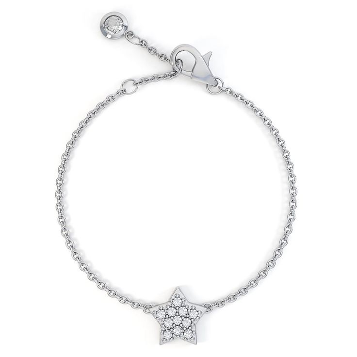 Charmisma Diamond Star 18ct White Gold Bracelet