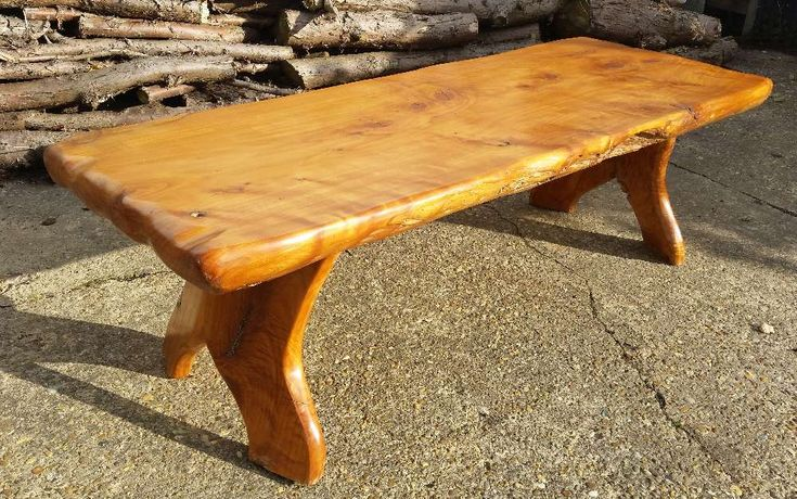 Large Chunky Coffee Table Solid English Macrocarpa