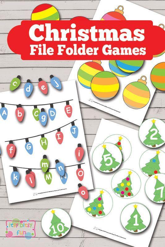 Christmas File Folder Games (Free Printable)