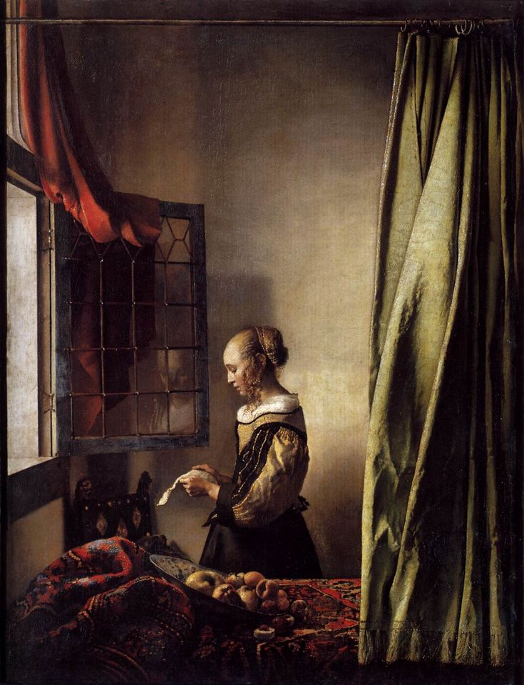 "1 of my favorite Vermeer paintings, ""Girl Reading A Letter."""