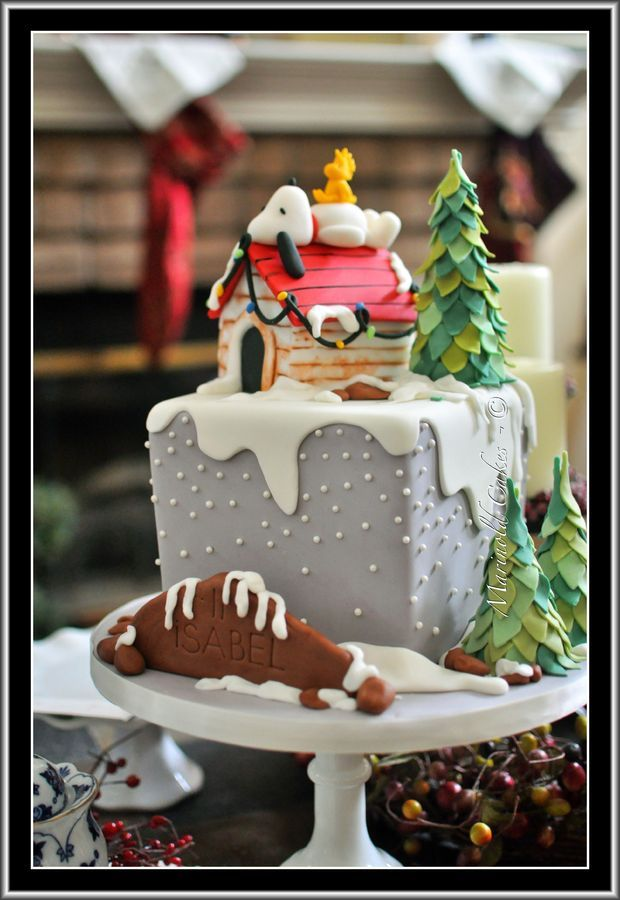 Christmas Cake Filling Ideas : 1000+ ideas about Snoopy Cake on Pinterest Themed cakes ...