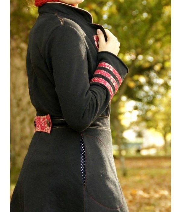 Manteau femme en sweat noir