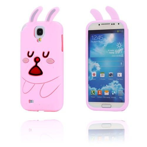 Cute Rabbit (Rosa) Samsung Galaxy S4 Deksel