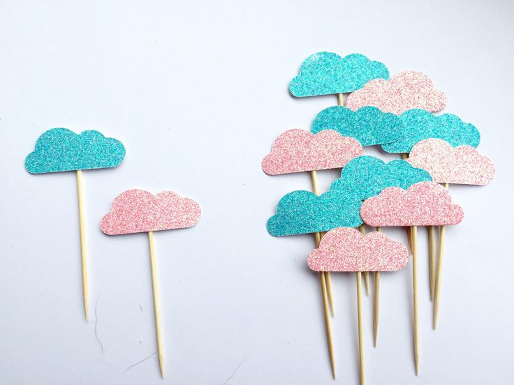 A personal favourite from my Etsy shop https://www.etsy.com/uk/listing/548660806/cloud-cupcake-toppers-baby-shower-cake
