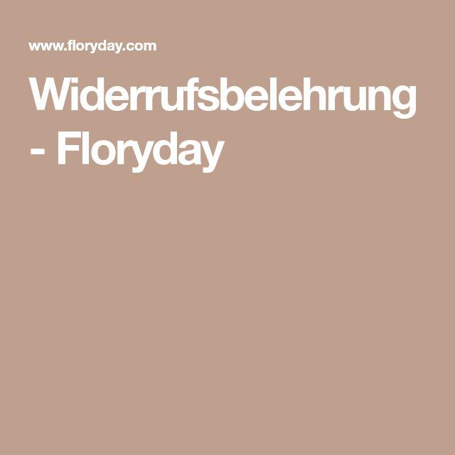 Widerrufsbelehrung - Floryday