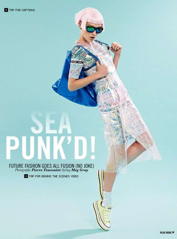 Futuristic Pastel Fashion - The Sea Punk'd Editorial is Done in a Futuristic Hipster Style (GALLERY)