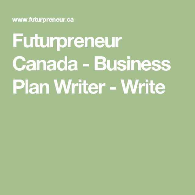 Business plan writer canada