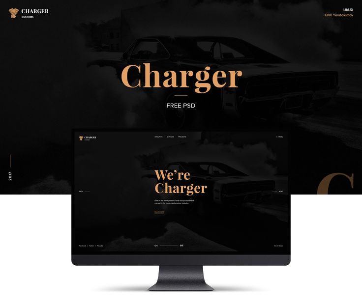 Charger Customs (Free PSD Website Template) - https://www.designideas.pics/charger-customs-free-psd-website-template/