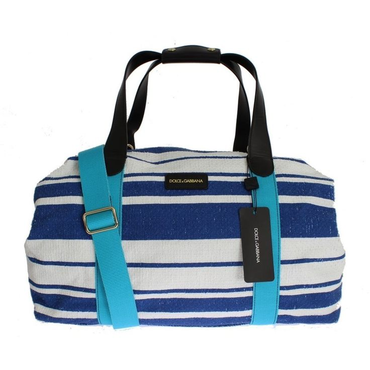 Dolce & Gabbana Striped linen boston bag