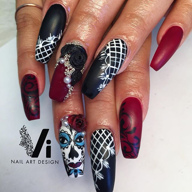 vinailartdesign | User Profile | Instagrin - 417 Best Nails ~ Skulls Images On Pinterest Halloween Nails, Nail