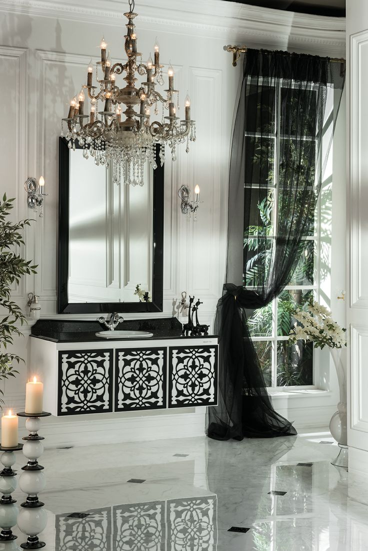 Topex Armadi Art Anatolia wall hung vanity white and black from our Classic Collection!