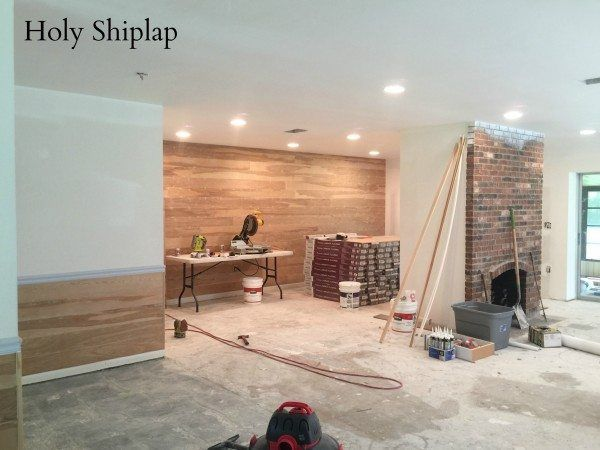 Covering Wallpaper with Faux Shiplap   Shiplap   Faux walls