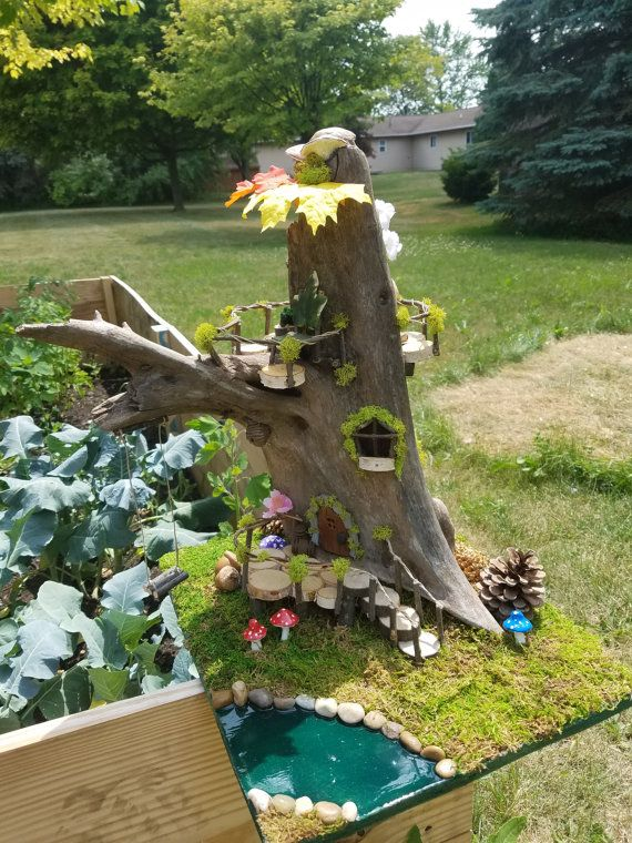 Check out this item in my Etsy shop https://www.etsy.com/listing/467093069/driftwood-lodge-fairy-house-fairy-garden