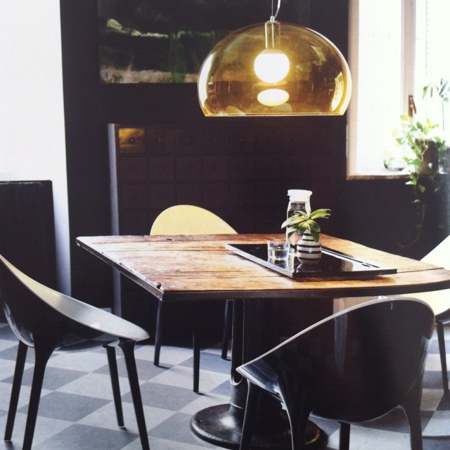 Kartell Super Impossible Chair and FL/Y Lamp
