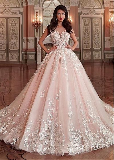 Princess Bride Dresses with Light Pink