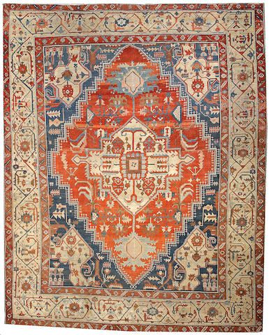 Serapi carpet Northwestl Persia, late 19th century size approximately 12ft. x 15ft. 2in.