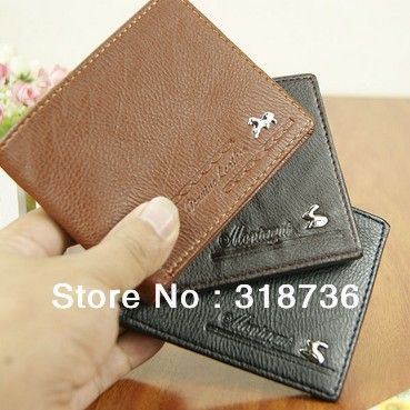 Free shipping new men's fashion casual high-quality artificial leather wallet short wallet PU Wallet L005 US $4.59