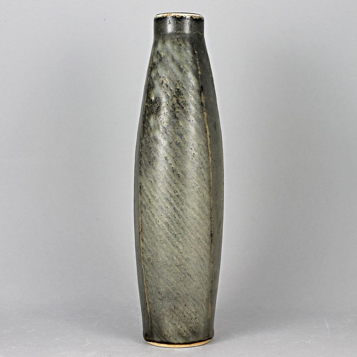 Carl-Harry Stalhane (1960s) Unique Rough Gently Swelling Vase