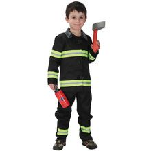 7 Sets/lot Free Shipping Kids Fireman Costumes Christmas Carnival Halloween Party Fancy Dress for Boys Children Cosplay Clothes(China (Mainland))