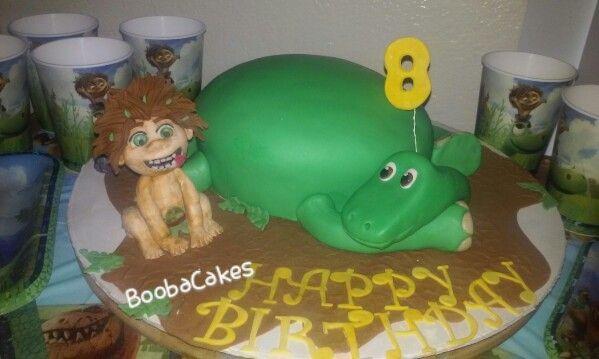 The Good Dinosaur Fondant Cake