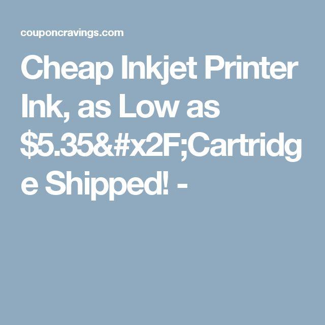 Cheap Inkjet Printer Ink, as Low as $5.35/Cartridge Shipped! -