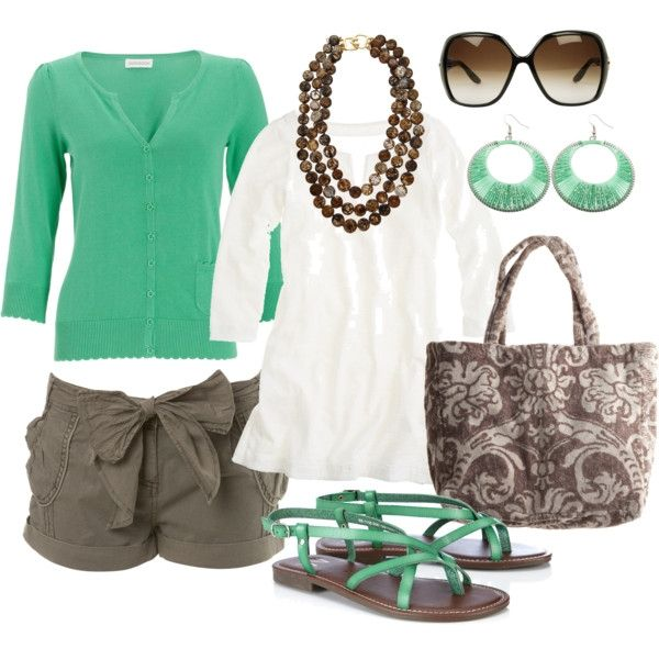 green  brown, created by htotheb: Colors Combos, Chocolates Chips, Fashion, Mint Green, Summer Outfit, Style, Springoutfit, Spring Outfit, Mint Chocolate