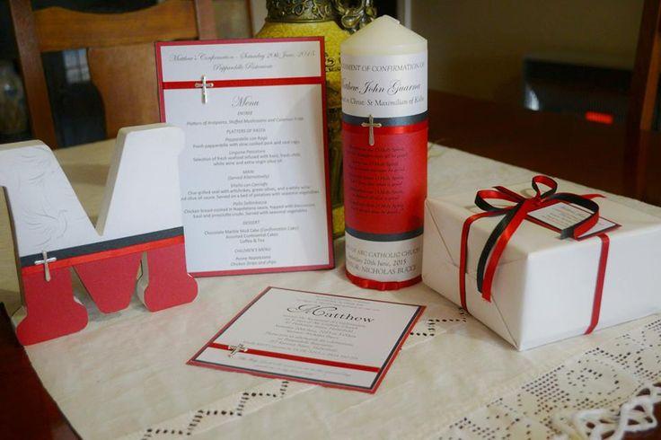 MATTHEW - monogram M, table menu, invite and candle