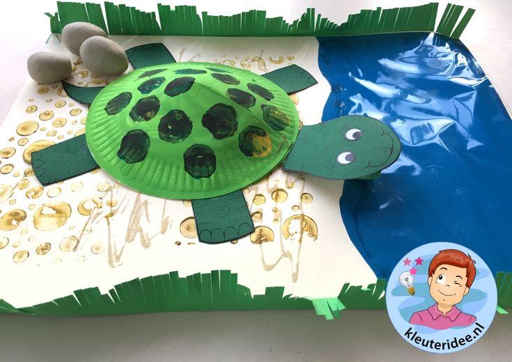 schildpad knutselen, kleuteridee, met gratis download 4