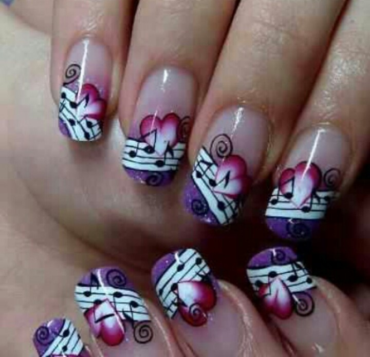 I love nail designs ideas. So I created this blog to inspire people like  YOU · Music NotesMusicalsI ... - 30 Best Cool Musical Note Nail Design. Images On Pinterest Make