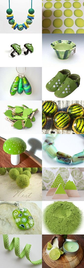 Lime treasures by Lindy Whitton on Etsy--Pinned+with+TreasuryPin.com