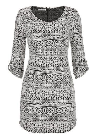 sweatshirt dress in ethnic print (original price, $39) available at #Maurices