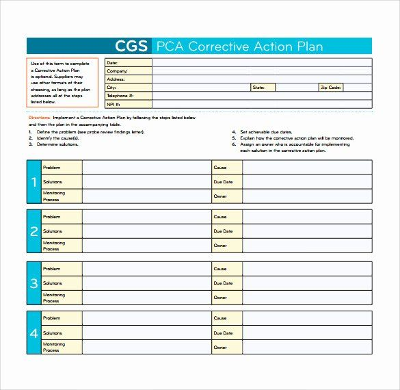 25 Corrective Action Plan Template In 2020 Action Plan Template