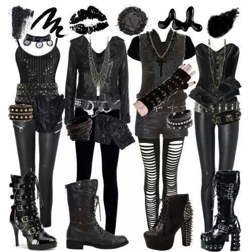 17 Best images about Full Dark Outfits on Pinterest ...